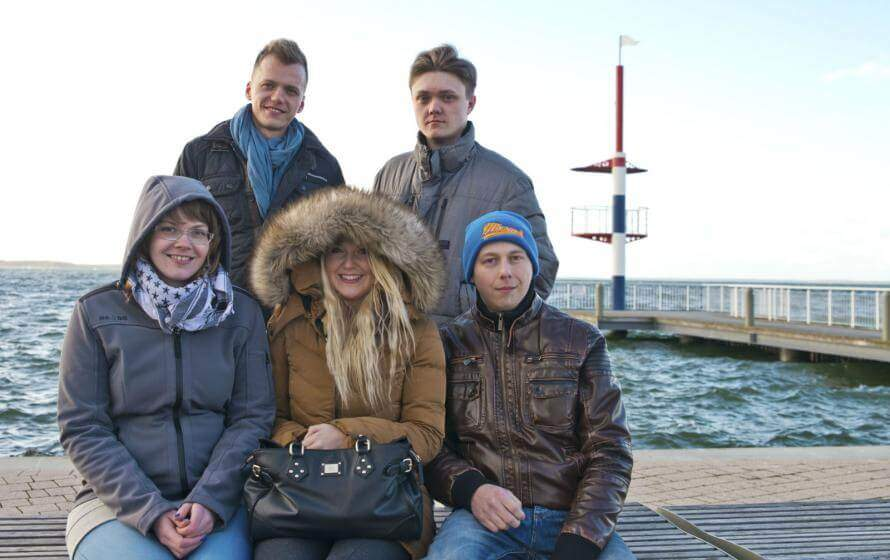 Tamara, Margarita, Igor, Alexej und Alex aus der Region Minden