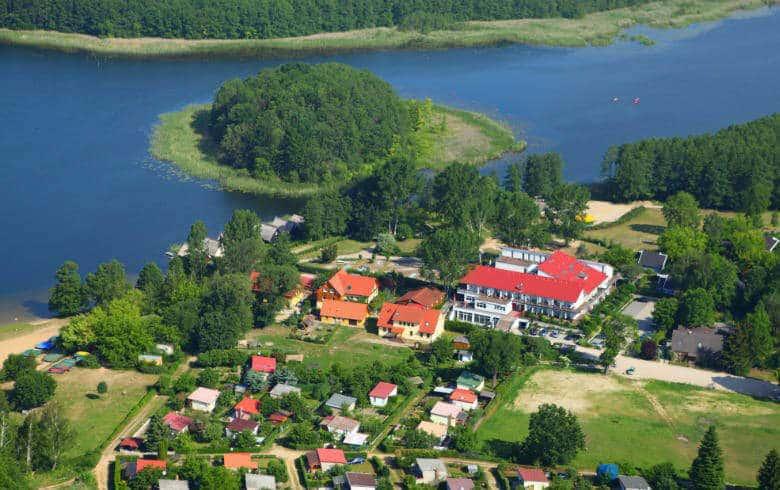 Blick auf die Mecklenburgische Seenplatte