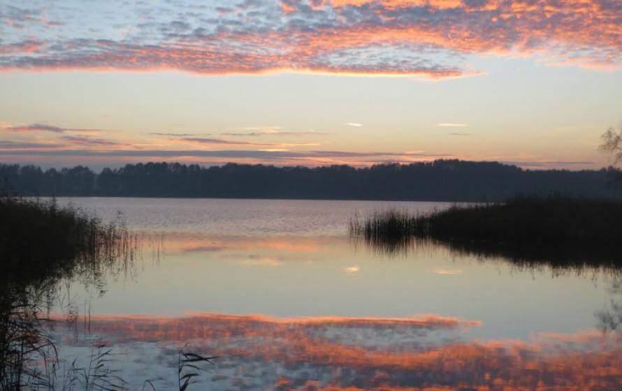 Sonnenuntergang an der Mürritz