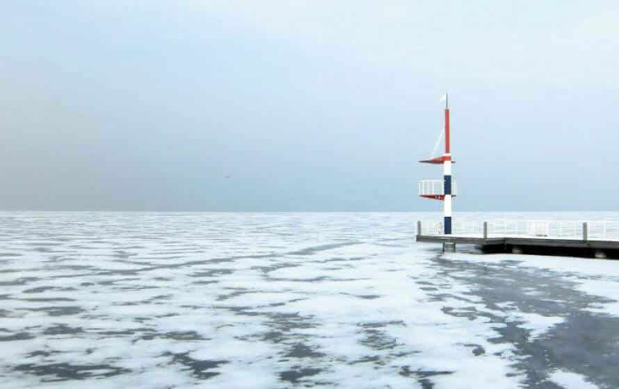 zugefrorene Mecklenburger Seenplatte